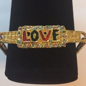 Fashion Jewelry Gold Tone LOVE Bracelet
